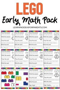 Free Printable LEGO Early Math Pack for Pre-School and Kindergarten