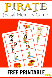 Pirate Memory Game Free Printable