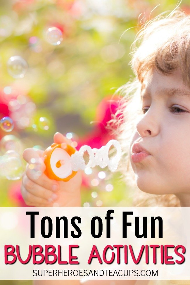 Tons of fun and easy bubble activities for kids.