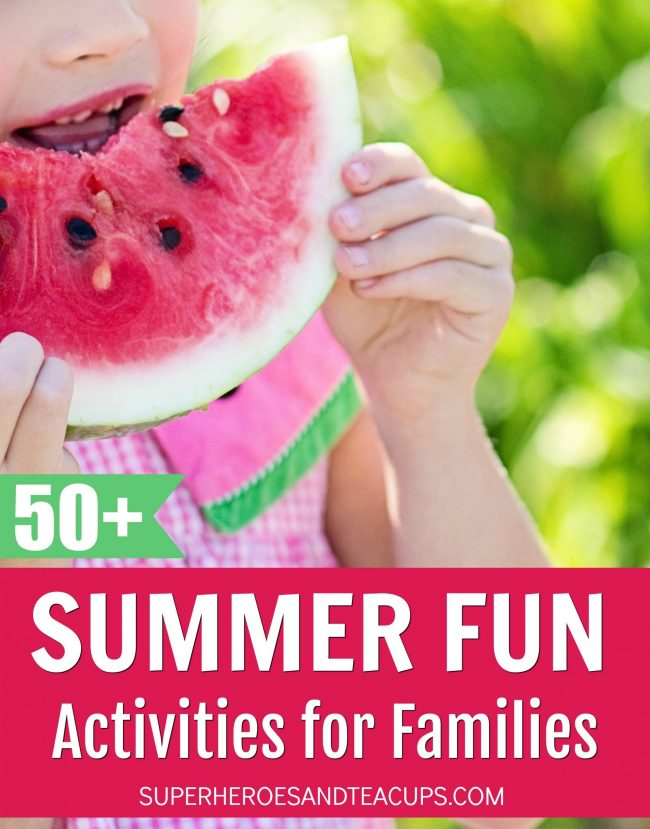 A list of over 50 summer fun activities for families.