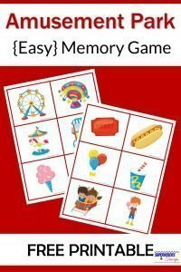 Amusement Park Memory Game Free Printable