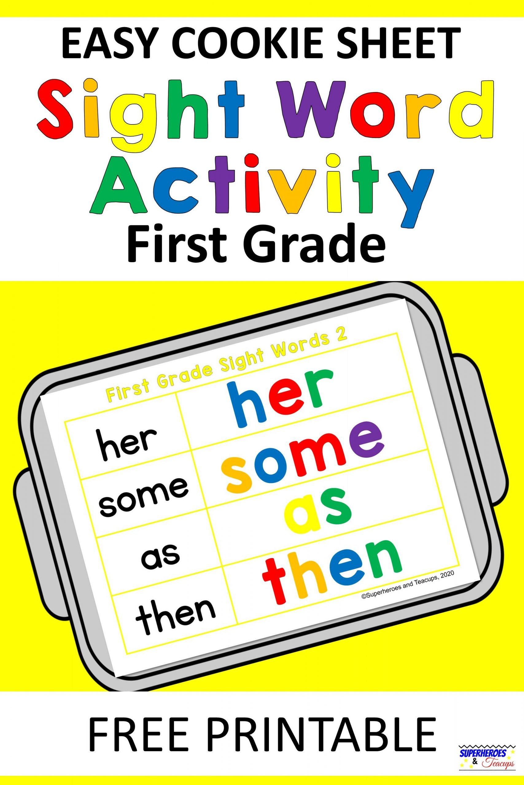 Easy Cookie Sheet First Grade Sight Word Activity