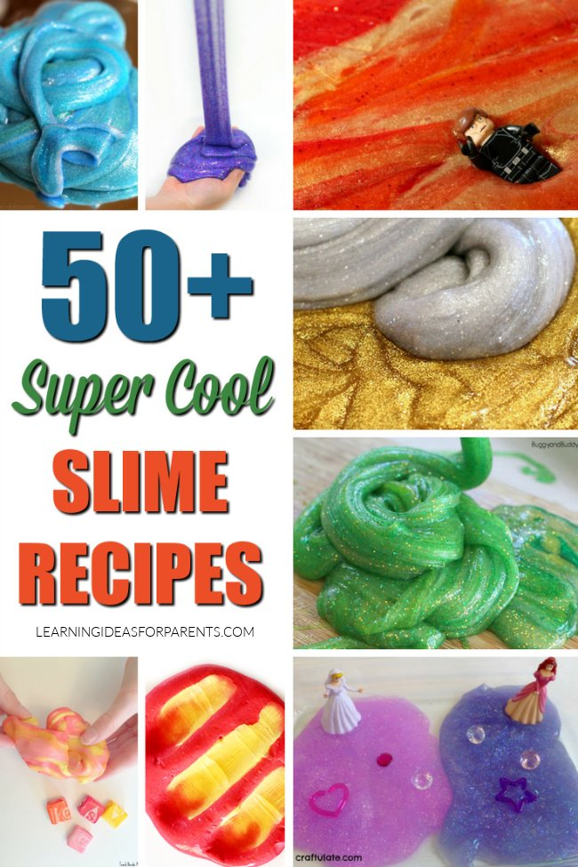 Over 50 fun slime recipes for kids.