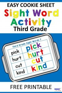 Easy Cookie Sheet Third Grade Sight Word Activity