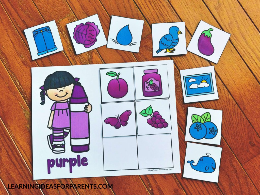 Color sorting mats for kids.