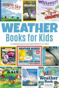 Weather books for kids of all ages.