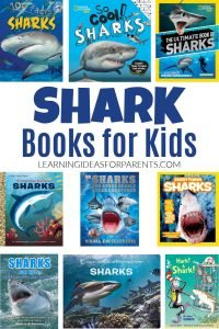 Non-fiction shark books for kids of all ages.