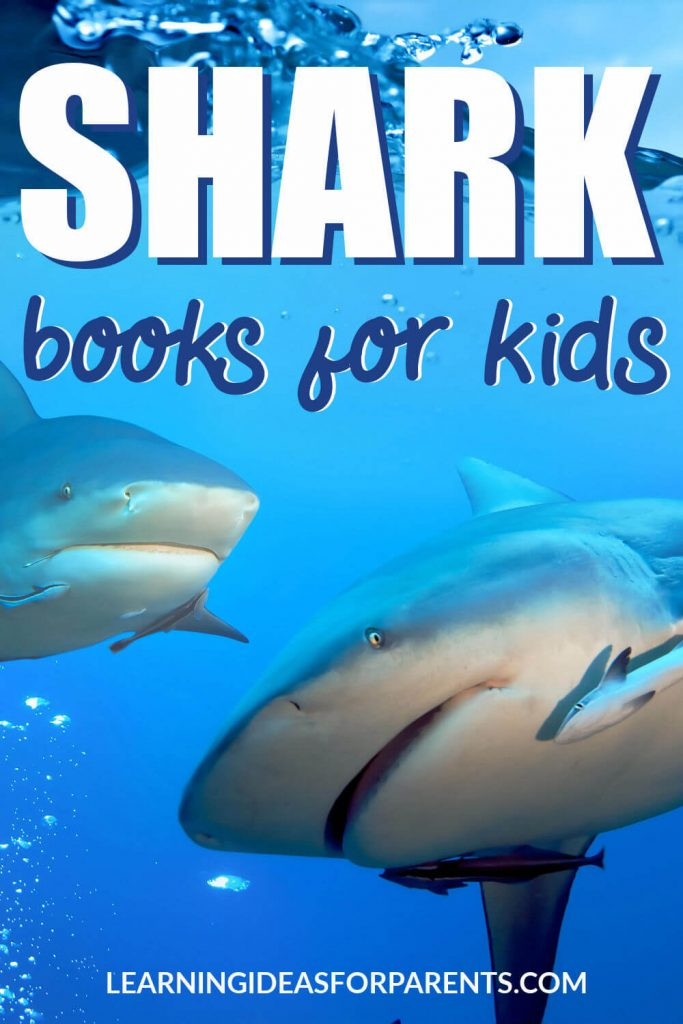 A list of non-fiction books about sharks for kids.