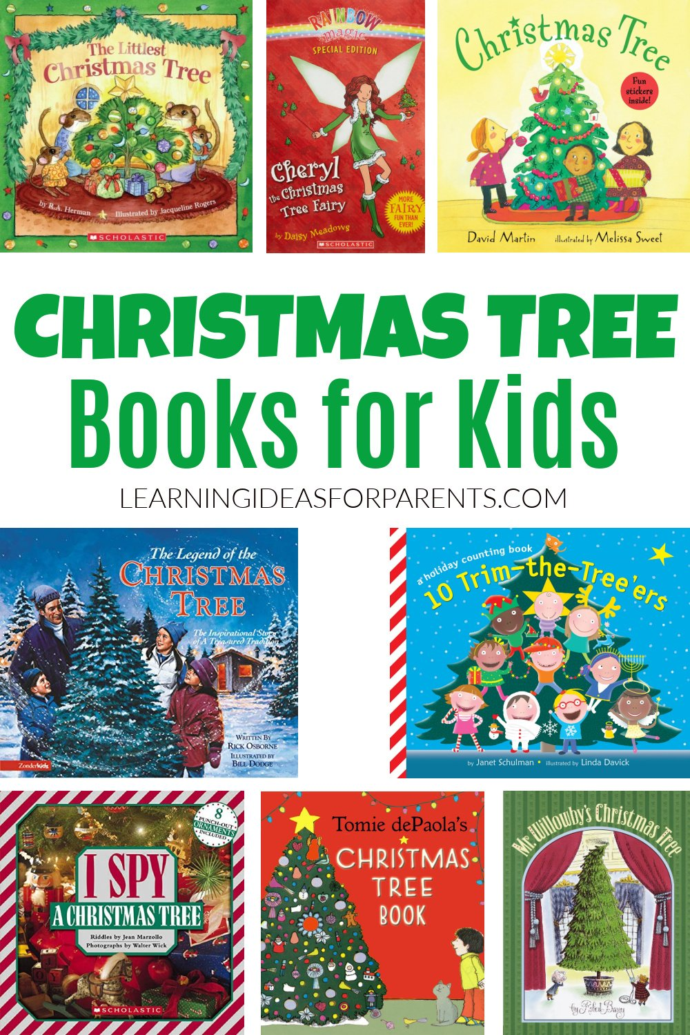 Christmas tree books for kids of all ages