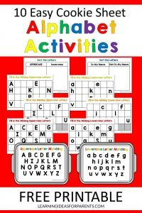 Free printable cookie sheet alphabet activities