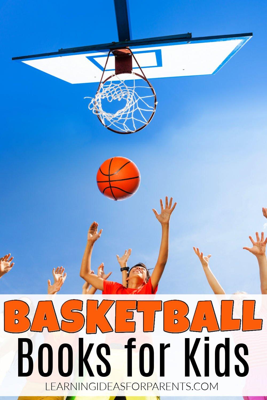 Kids playing basketball. Basketball books for kids.