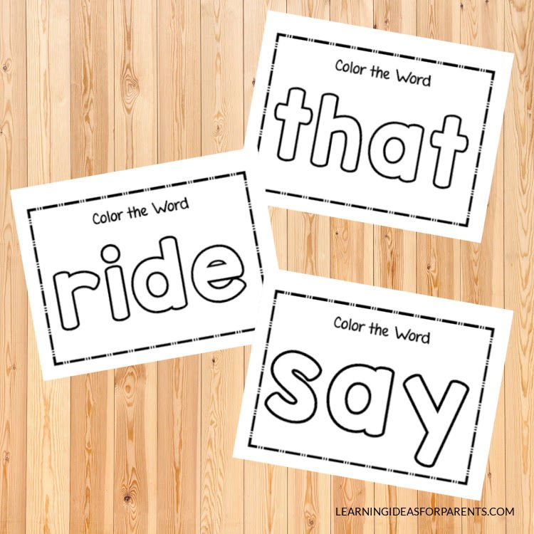 Free printable primer Dolch sight word activity sheets.