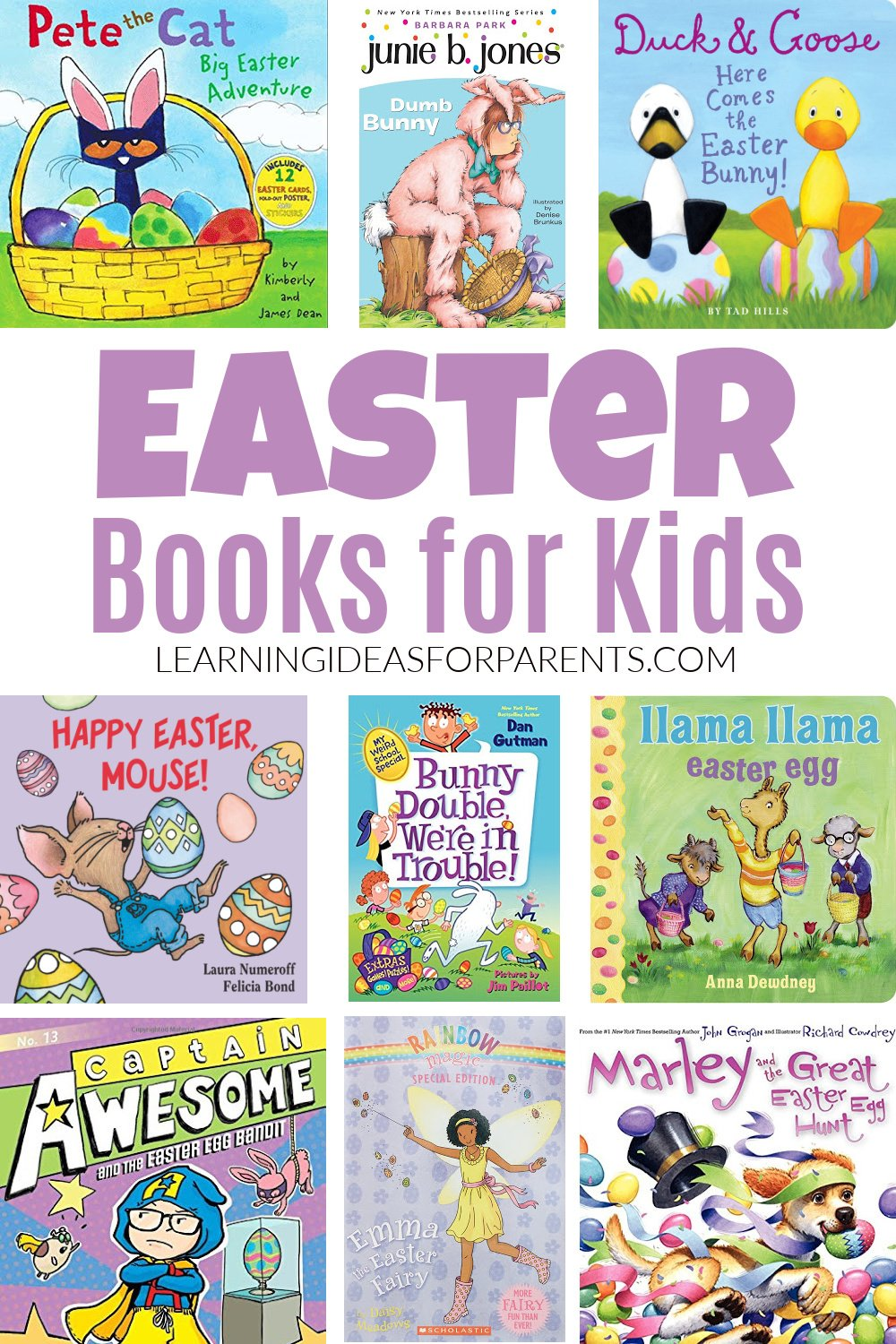 Easter picture books and chapter books for kids.