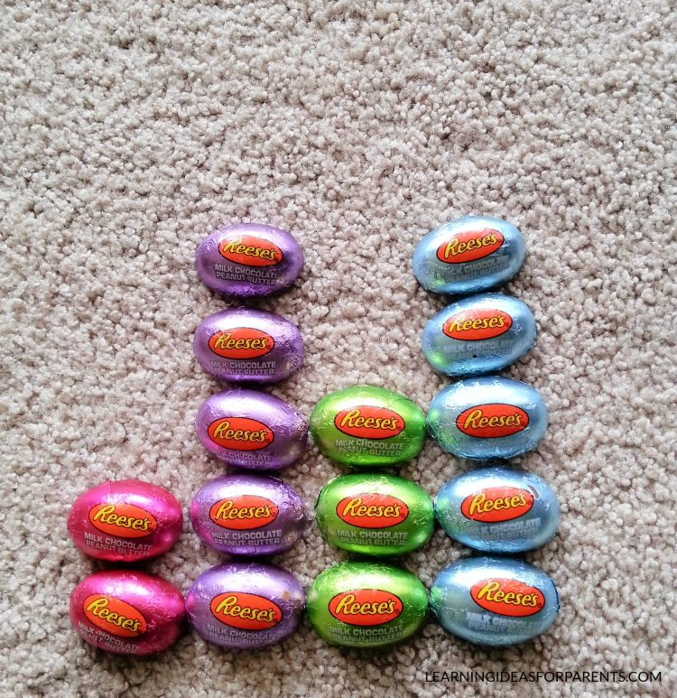 Graphing activity with Easter candy.