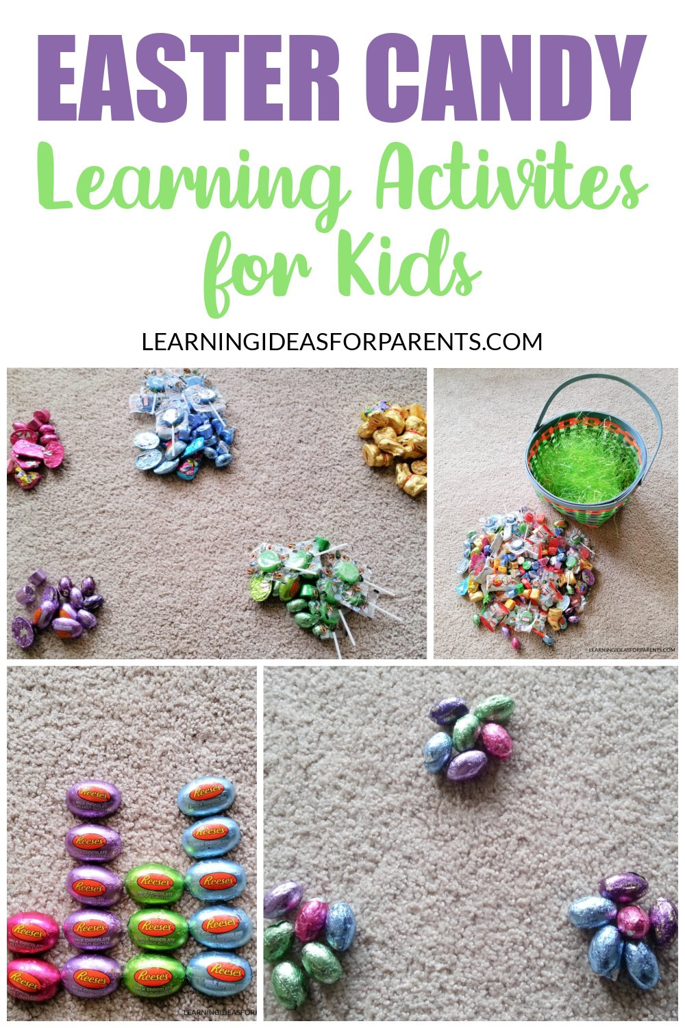 Learning activities with Easter candy.