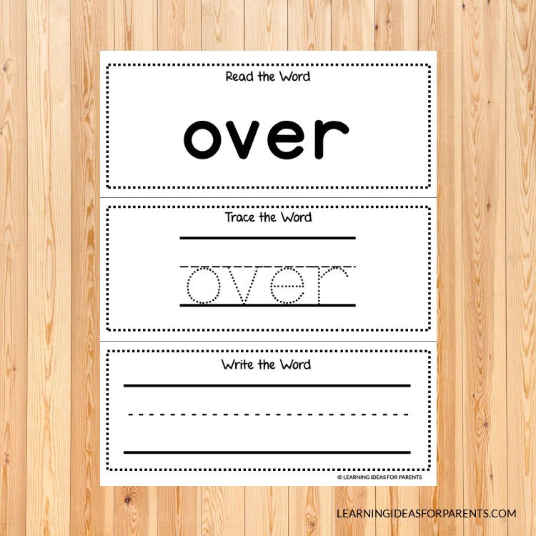 Free printable first grade Dolch sight word activity sheets.