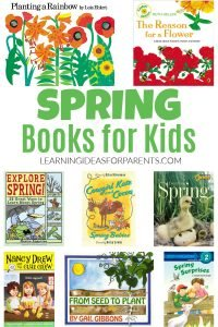 Spring picture books and chapter books for kids.