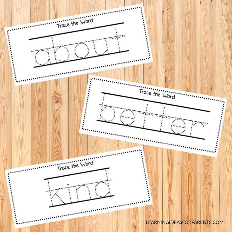 Free printable third grade Dolch sight word activity sheets