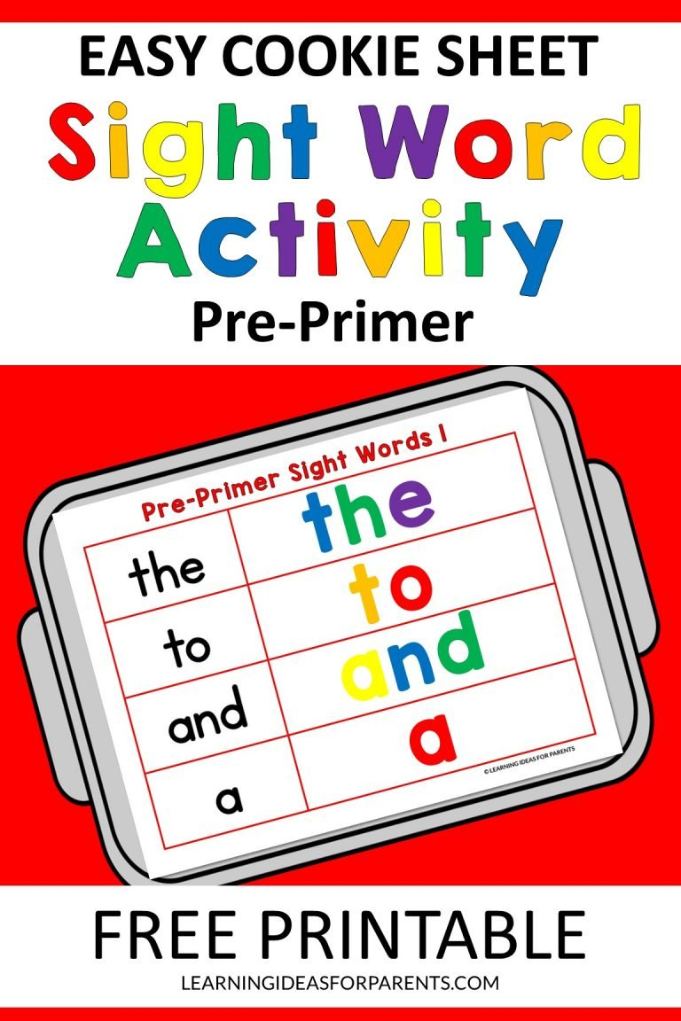 Easy Cookie Sheet Pre-Primer Sight Word Activity