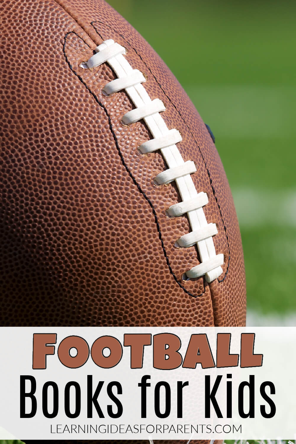 Fun list of football books for kids of all ages.
