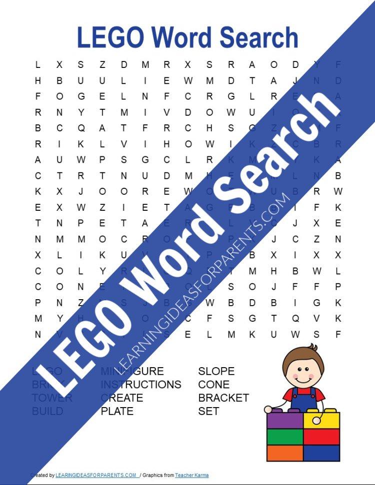 LEGO Word Search Free Printable