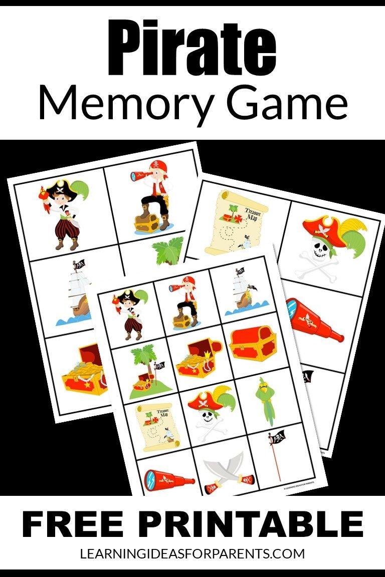 Pirate Memory Game